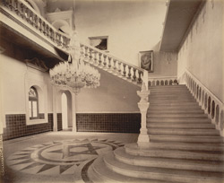 Marble stair case in the Nazarbag Palace [Vadodara]